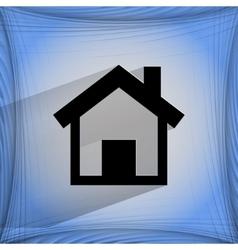 House Flat modern web design on a flat geometric vector