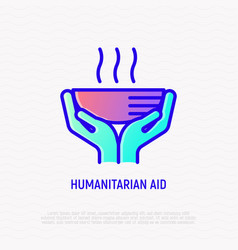 humanitarian aid thin line icon vector image