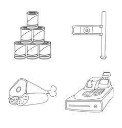 isolated object food and drink symbol set of vector image