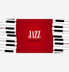 jazz concert with piano background vector image