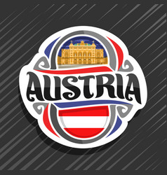 logo for austria vector image