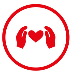 love care hands rounded icon vector image