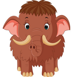 Mammoth cartoon vector