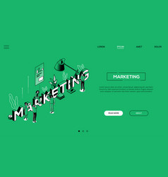 marketing and business landing page vector image