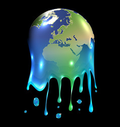 Melting world vector