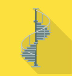 Metal staircase iconflat icon vector