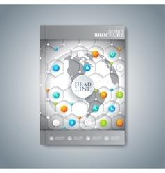 Modern template layout brochure magazine flyer vector