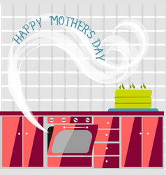 Mothers day background with paper flowers vector