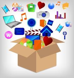 multimedia carton vector image vector image