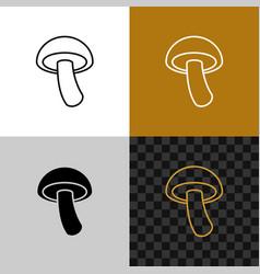mushroom simple icon shiitake line style symbol vector image