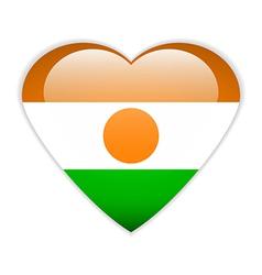 Niger flag button vector