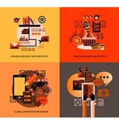 Original style infographics templates vector