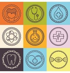 outline logos - healthcare vector image