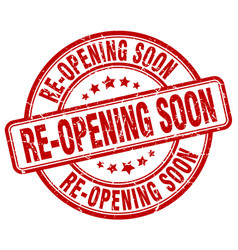 re-opening soon vector image