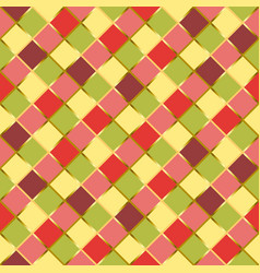 Seamless pattern with colorful squares in yellow vector