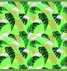 Seamless print leaves vector