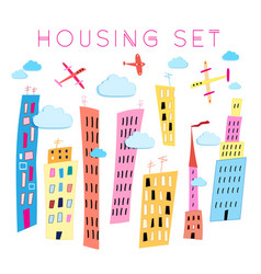 Set houses vector