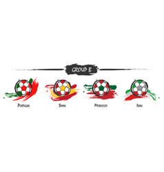 set of football or soccer national team group b vector image