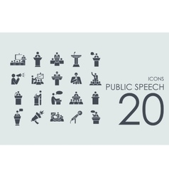 Set of public speech icons vector