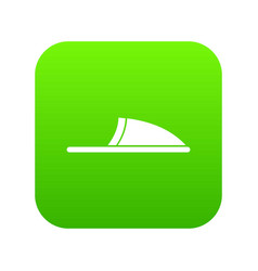 slippers icon digital green vector image