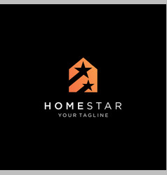 Star and house logo template vector