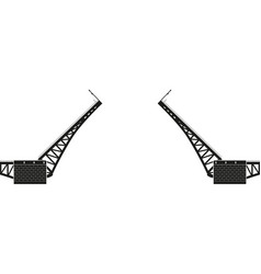 swing bridge vector image