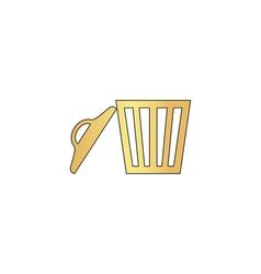 trash computer symbol vector image