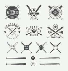Vintage baseball logos emblems badges and design vector