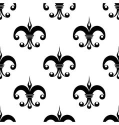 Vintage fleur de lys pattern vector image