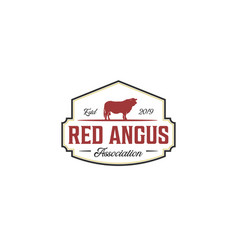 Vintage red angus logo design inspirations vector