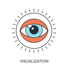 Visualization vector image