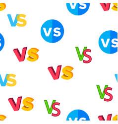 vs abbreviation versus seamless pattern vector image