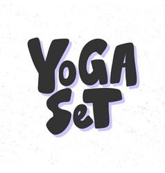 Yoga set sticker for social media content vector