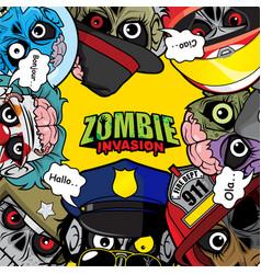 Zombie invasion poster art vector