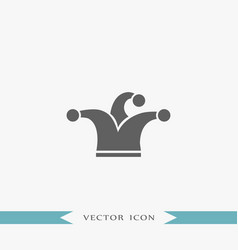 clown hat icon party vector image