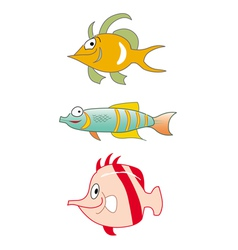 fishes tropical collection vector image vector image