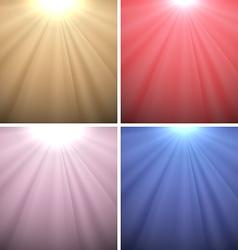 Set of Light Backgrounds vector image