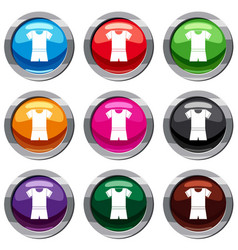 sport shirt and shorts set 9 collection vector image vector image