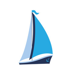 a ship with sails and an anchor can be used for vector image vector image