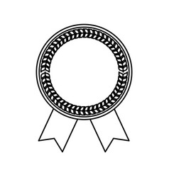 blank award ribbon vector image