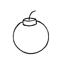 Bomb Doodle hand drawn object for design vector image vector image