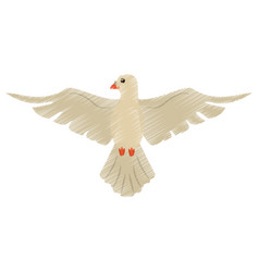 drawing holy spirit dove symbol vector image vector image