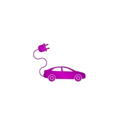 electric car icon Flat design style vector image