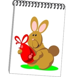 Notes with hare in color 07 vector image