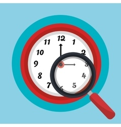 Time clock icon graphic vector image vector image