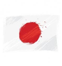 grunge Japan flag vector image vector image