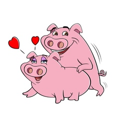 pigs humping vector image vector image