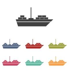 Ship icons set vector image