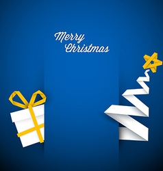 Simple blue christmas card vector image vector image