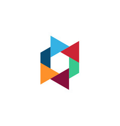 triangle geometry color logo vector image